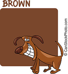 Color Brown and Dog Cartoon - Cartoon Illustration of Color...