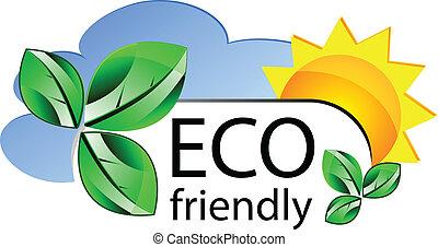 eco friendly website icon or concepta - Vector eco friendly...