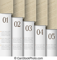 Numbered banners. Vector design template