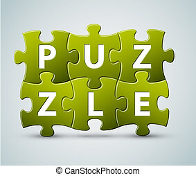 Vector puzzle lettering