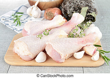 raw chicken/ drumsticks