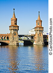 Oberbaum bridge in Berlin - Oberbaumbruecke (brigde) in...
