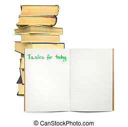 tasks for today - open lined notebook with space for tasks...