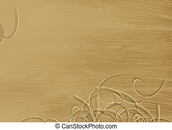 Pine wood texture with shavings. Vector illustration, EPS 10