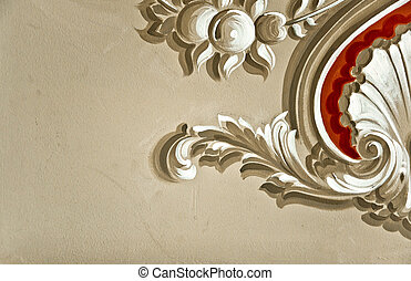 Baroque Wall Decor - Hand painted Baroque style wall decor
