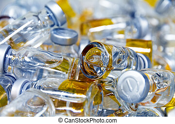 Stack of small bottles