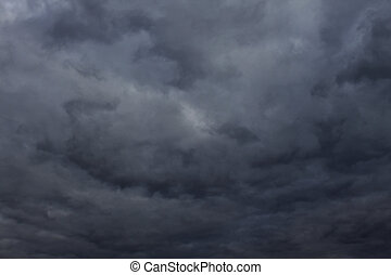 Natural Dark Thunder and Storm Clouds - Background Picture...