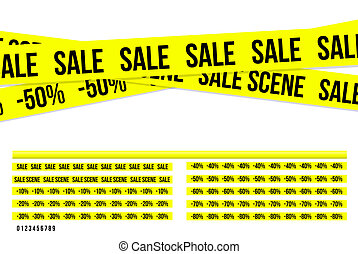 Criminal sale ribbons - Yellow criminal sale ribbons, nice...