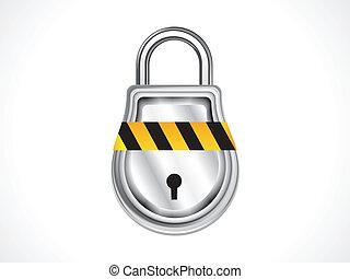 abstract shiny pad lock icon vector