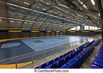 Gymnasium - Empty multi sport arch hall