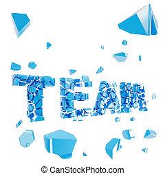 Broken team metaphor, smashed word explosion - Broken team...