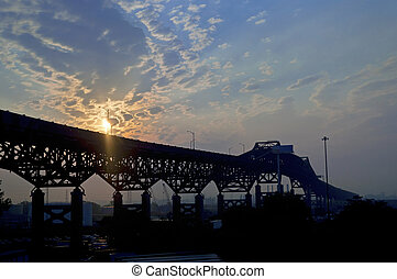 Dawn The Pulaski Skyway - The Pulaski Skyway just after...