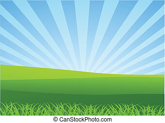 Nature Landscape - Vector illustration of Nature Landscape