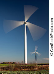 Renewable energy from spining windmills - Production of wind...