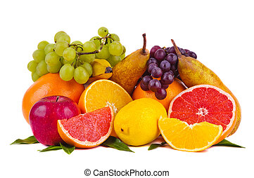 colorful group of fruits - colorful group of fresh fruits...