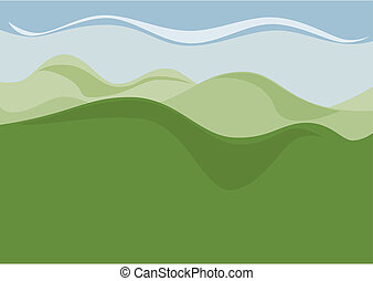 Hill Country - The empty landscape with hills as a...