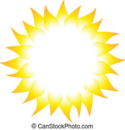 Sun rays isolated on white background Vector illustration