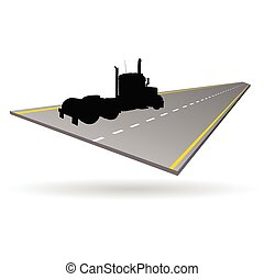 truck on the road illustration