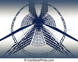 architectural background - Abstract modern architectural...