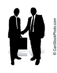Handshake - An abstract vector illustration of two...