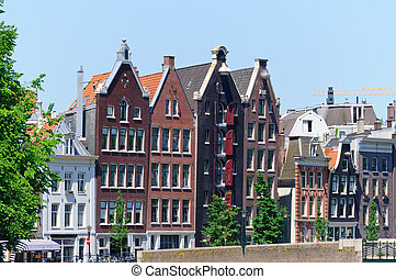 Amsterdam, Netherlands - Old city of Amsterdam. Amsterdam is...