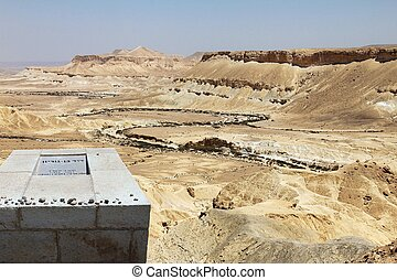 Grave of David Ben Gurion - Grave of first prime minister of...