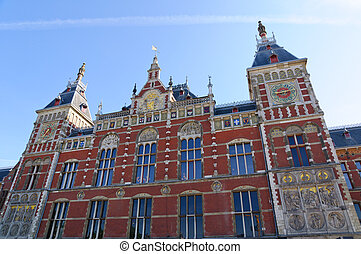 Amsterdam Central Railway station, - Amsterdam Central...