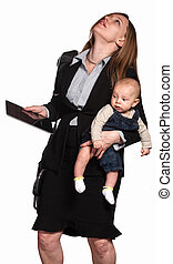 Stressed Out Working Mom - Stressed out professional woman...