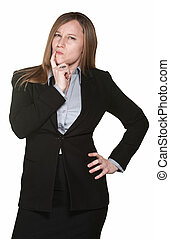 Doubtful Business Woman - Cynical professional female...