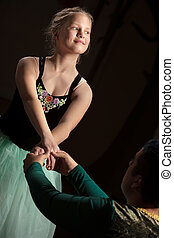 Graceful Ballet Performance - Graceful young ballet student...