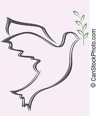 Dove Peace - Vector illustration of Dove Peace
