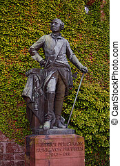 Statue of a german nobel at Hohenzollern castle in Germany