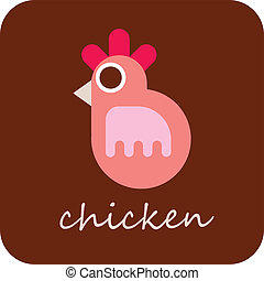 Chicken - vector icon