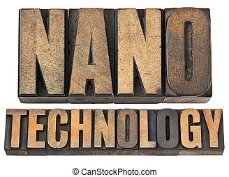 nanotechnology in wood type - nanotechnology -- isolated...