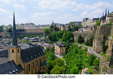 City of Luxembourg - The Old town and Fortifications. The...