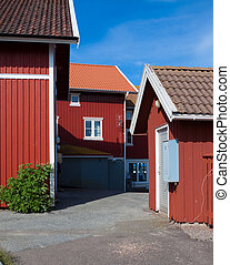 Vacation homes in Sweden - Some vacation homes on a swedish...
