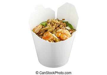 Wok meal Pad Thai - Thai noodle Pan Thai in wok meal package