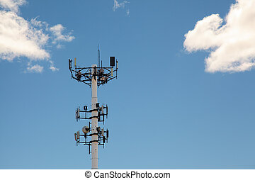communications tower with wireless receivers