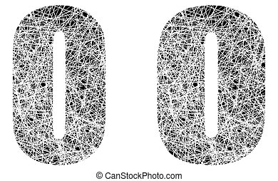 Abstract Black and White Font Letter O