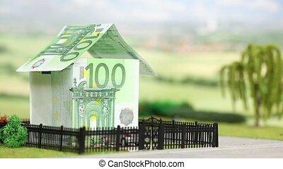 Euro house blown away