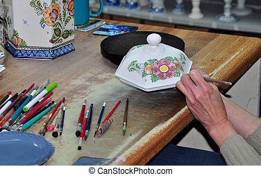 Artist at work - Holland MI