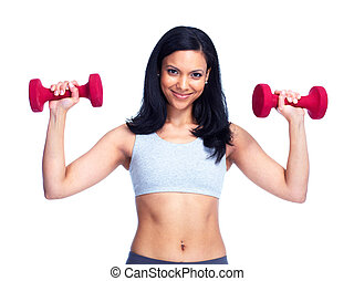 Fitness woman. - Beautiful young fitness woman with a...