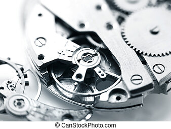 Watch mechanism - Extreme close up shot of watch mechanism...
