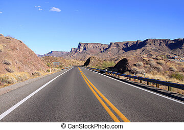Historic route 66 - Scenic landscape by the historic route...