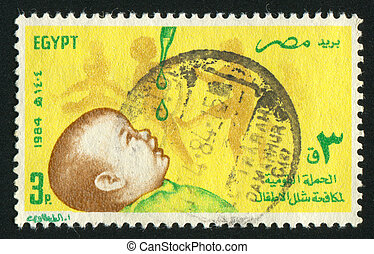 Child - EGYPT - CIRCA 1984: stamp printed by Egypt, shows...