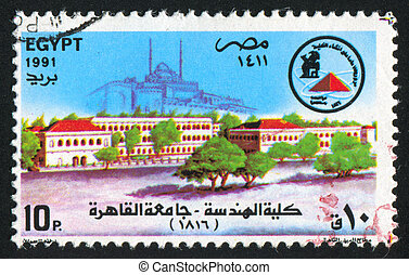 Faculty of Engineering - EGYPT - CIRCA 1991: stamp printed...