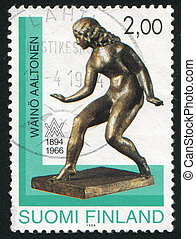 Muse - FINLAND - CIRCA 1994: stamp printed by Finland, shows...