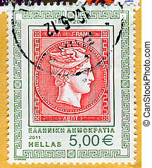 Hermes - GREECE - CIRCA 2011: stamp printed by Greece, shows...