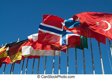 International Flags - Turkey, Iceland and other...