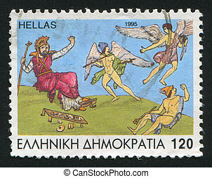 Hermes - GREECE - CIRCA 1995: stamp printed by Greece, shows...
